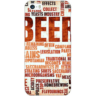 EYP Beer Quote Back Cover Case For Apple iPhone 5 21242