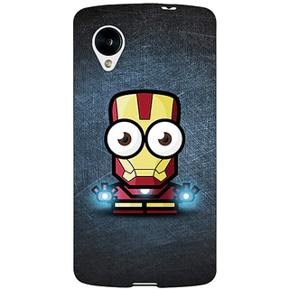EYP Big Eyed Superheroes Iron Man Back Cover Case For Google Nexus 5 40396