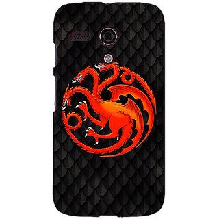 EYP Game Of Thrones GOT House Targaryen  Back Cover Case For Moto G (1st Gen) 130138