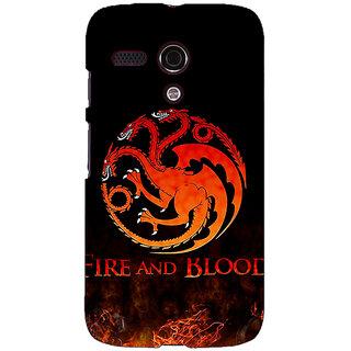 EYP Game Of Thrones GOT House Targaryen  Back Cover Case For Moto G (1st Gen) 130142