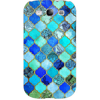 EYP Dark Blue Moroccan Tiles Pattern Back Cover Case For Samsung Galaxy S3 Neo 340290