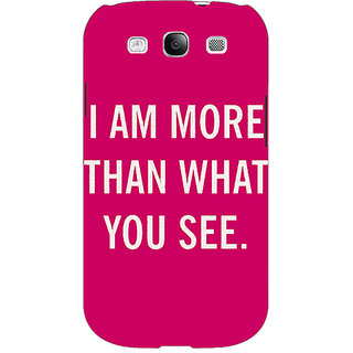 EYP Quote Back Cover Case For Samsung Galaxy S3 Neo 341225