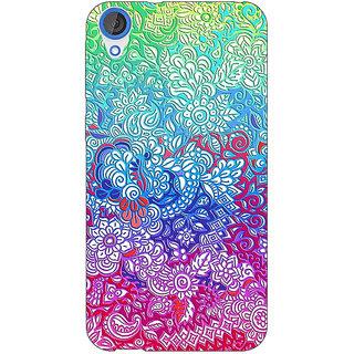 EYP Flower Gardens Pattern Back Cover Case For HTC Desire 820Q 290249
