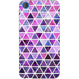 EYP Purple Triangles Pattern Back Cover Case For HTC Desire 820Q 290268