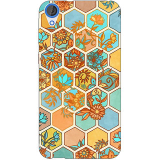 EYP Floral Hexagon Pattern Back Cover Case For HTC Desire 820Q 290283