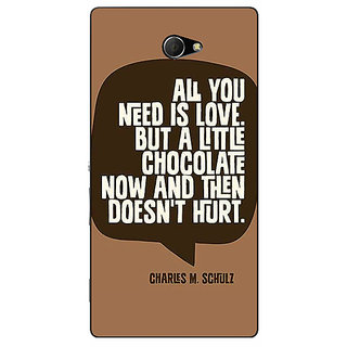 EYP Chocolate Love Quote Back Cover Case For Sony Xperia M2 Dual 321306