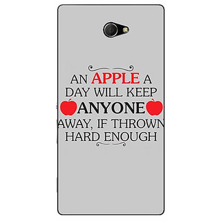 EYP Apple Quote Back Cover Case For Sony Xperia M2 Dual 321313