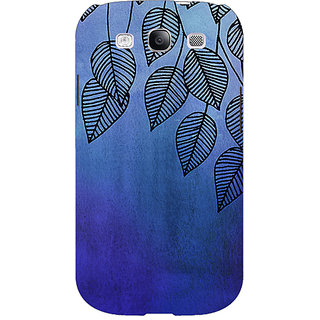 EYP Blue Leaves Pattern Back Cover Case For Samsung Galaxy S3 Neo GT- I9300I 350218