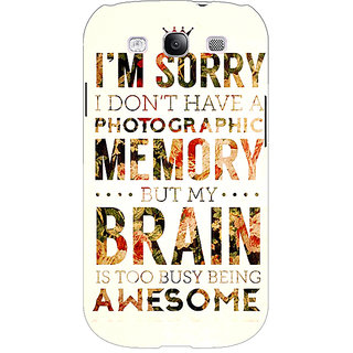EYP SUITS Quotes Back Cover Case For Samsung Galaxy S3 Neo GT- I9300I 350481