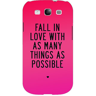 EYP Quotes Love Back Cover Case For Samsung Galaxy S3 Neo 341169
