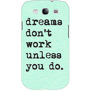 EYP Dream Quotes Back Cover Case For Samsung Galaxy S3 Neo 341185