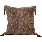 ANCHOR - Heavy Embroidery Wine Coloured Cushion Cover - Set Of 2