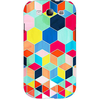 EYP Multicolour Hexagon Pattern Back Cover Case For Samsung Galaxy S3 Neo GT- I9300I 350286