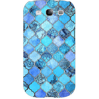 EYP Blue Moroccan Tiles Pattern Back Cover Case For Samsung Galaxy S3 Neo GT- I9300I 350287