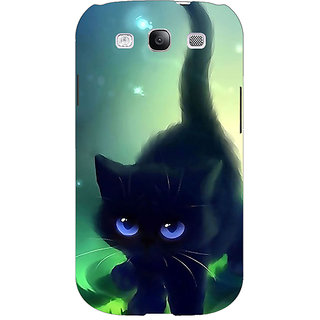 EYP Cute Black Kitten Back Cover Case For Samsung Galaxy S3 Neo GT- I9300I 351138