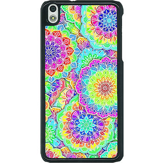 EYP Psychdelic Floral  Pattern Back Cover Case For HTC Desire 816G 400235