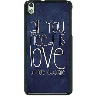 EYP Love Quote Back Cover Case For HTC Desire 816G 401328