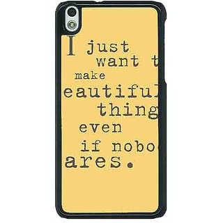 EYP Quote Back Cover Case For HTC Desire 816G 401335
