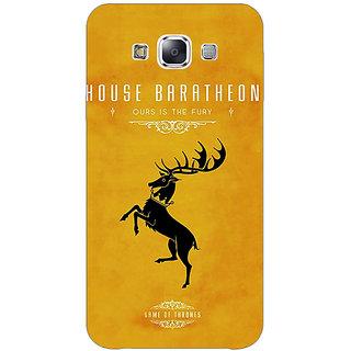 EYP Game Of Thrones GOT House Baratheon  Back Cover Case For Samsung Galaxy E7