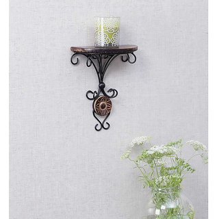 Onlineshoppee Beautiful wood  wrought iron Fancy wall bracket