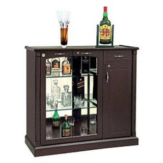Mavi Brown Mini Bar And Storage Unit-MABR-4548