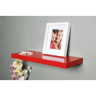 The New Look set top box Mw21red Wooden Wall Shelf