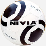 NIVIA FOOTBALL BLACK AND WHITE COLOR SIZE - 5 ALL AGES