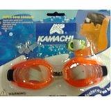 KAMACHI SWIMMING GOGGLES + NOSE AND EAR PLUG FREE