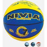 "NIVIA RUBBER BASKET BALL ""MULTI COLOR"" STANDRD SIZE - 7"