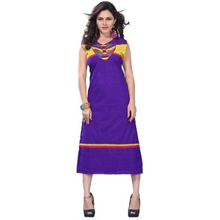 Limemode Womens Cotton Kurti ( WAKT000030BlueLarge )