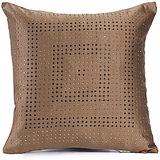 DISCO - Coffee Brown Polysilk Swarovski Cushion Cover - Set Of 2