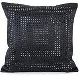 DISCO - Black Polysilk Swarovski Cushion Cover - Set Of 2