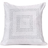 DISCO - White Polysilk Swarovski Cushion Cover - Set Of 2