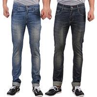 Denim Slim Fit Jeans For Men-Pack Of 2Pcs (XCR-2CM-VV-GRY-BLKISH-13)