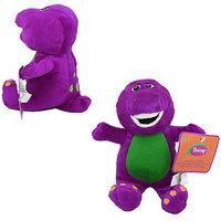 17cm Barney Dinosaur with Music When U Press Soft Plush Stuffed Teddy Doll Toy