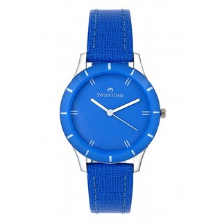 Swisstone Blue Dial Blue Strap Analog Watch For Women/Girls- ST-LR002-BLU-BLU