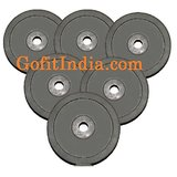 Gofitindia 150 Kg Spare Rubber Weight Plates For Weight Lifting 2+3+15+25 Kg X 2 Pcs, 5+10 Kg X 4 Pcs
