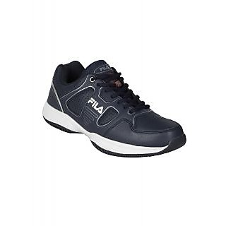 Fila Mens Navy and Silver Tennis Shoes (11003084)