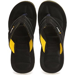 Sparx SFG-526 Black Yellow Slipper Size 9