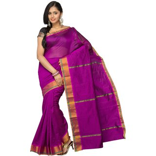 Korni Cotton Silk Banarasi Saree Kfg-901- Purple KR0043