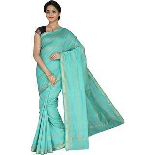 Korni Cotton Silk Banarasi Saree TF-1054- Rama Green KR0521