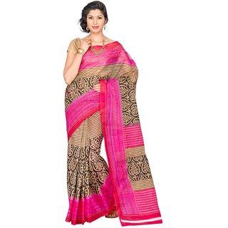 Korni Cotton Mangalgiri Saree - Pink KR0076
