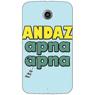 EYP Bollywood Superstar Andaz Apna Apna Back Cover Case For Google Nexus 6