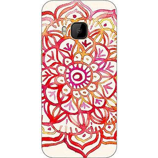 EYP Flower Floral Pattern Back Cover Case For HTC M9