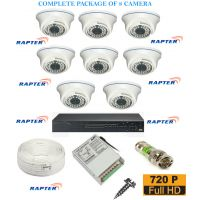 Rapter CCTV FULL COMBO KIT, 36IR (720P) Dome Camera 8Pcs
