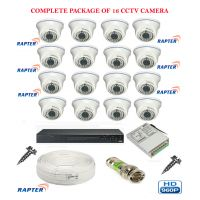 Rapter CCTV COMBO KIT, 36IR (960P) Dome Camera 16Pcs