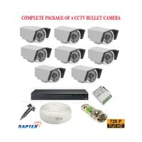 Rapter CCTV FULL COMBO KIT, 36IR (720P) Bullet Camera 8Pcs
