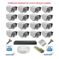 Rapter CCTV FULL COMBO KIT, 36IR (960P) Bullet Camera 16Pcs
