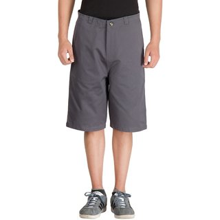 Hypernation Grey Cotton Shorts