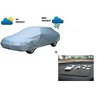 Autostark Combo Of Skoda Octavia Car Body Cover With Non Slip dashboard Mat Multicolor